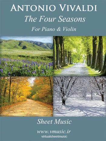 نت موسیقی چهار فصل ویوالدی برای ویولن و پیانو
