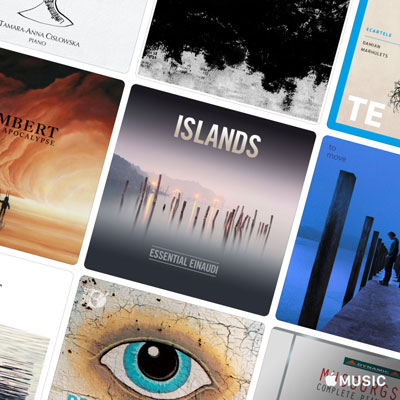 آلبوم پیانو چیل ، 50 قطعه برگزیده ی اپل موزیک از محبوب ترین آثار هنرمندان سبک کلاسیک