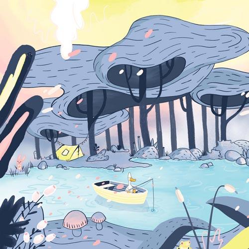 رویاپردازی ، موسیقی چیل استپ رویایی و خیال انگیز از سیتینگ داک